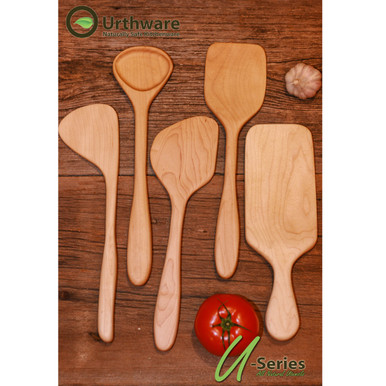 Urthware  Hard maple hand crafted wooden spoon made in Canada with Organic finishes
