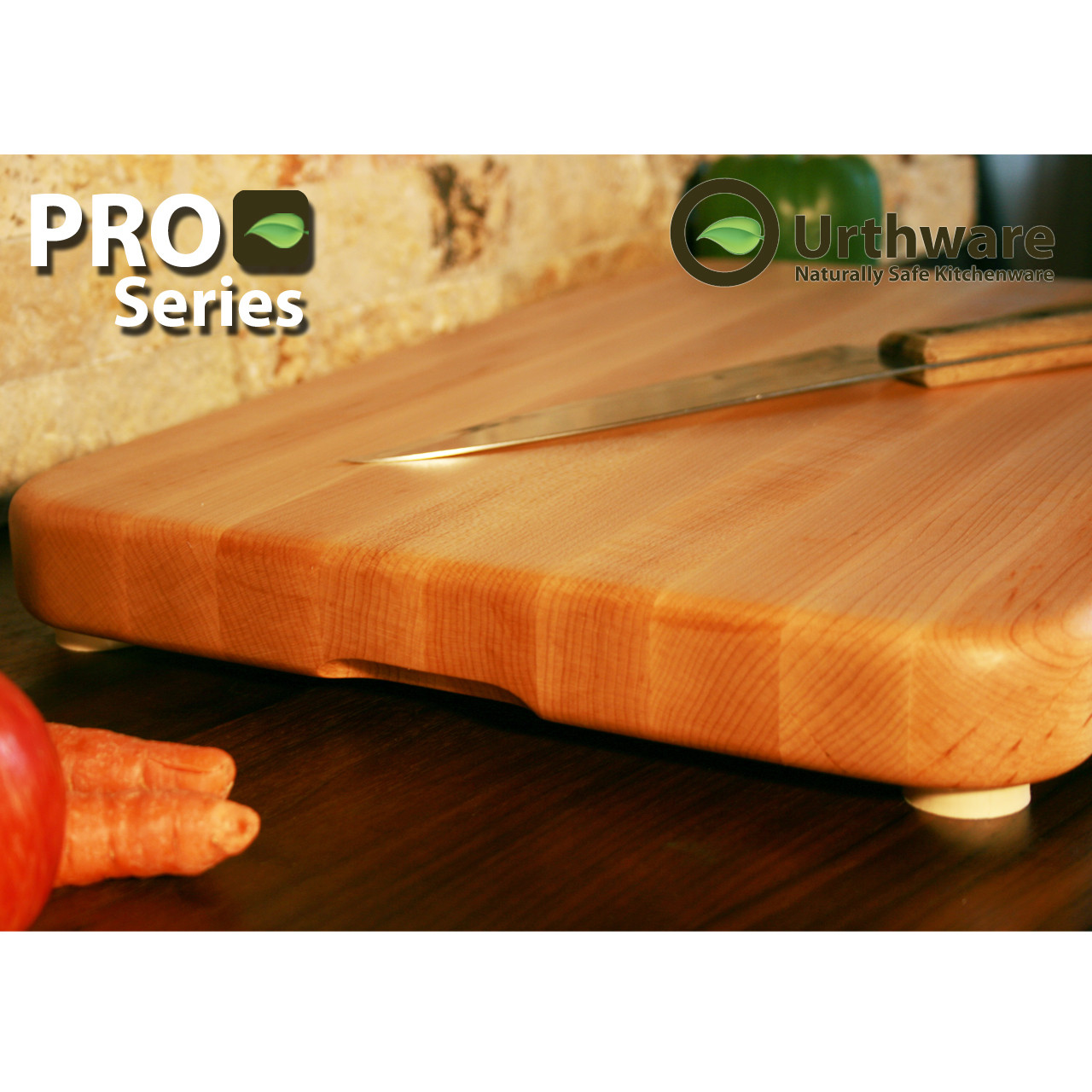 d61d9c3a3f6 Urthware Pro Series XL Canadian Hard Maple cutting board using only organic  natural finishes