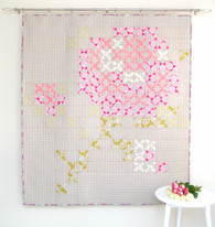 Viv's Rose Lap Quilt - pattern includes sizes for Lap Quilt, Wall Hanging and 2 Cushions