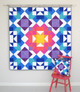 Make this quilt using Rainbow fabrics, Ombre coloured prints, Two-toned, make it Scrappy, use a Fabric Range, with Neutrals or even Solids. No matter what you choose it will look fabulous.