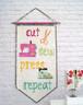 Cut, Sew, Press, Repeat Pennant.  Perfect for Mini Quilt swaps.