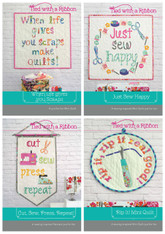 Sewing Quotes Inspiration PDF Pattern Bundle.  Listing is for Instructions for all 4 Mini Quilt Patterns.
