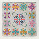 """Grand"" Trinket Box Quilt- large Applique centre feature. 72.5in x 72.5in (184cm x 184cm)"
