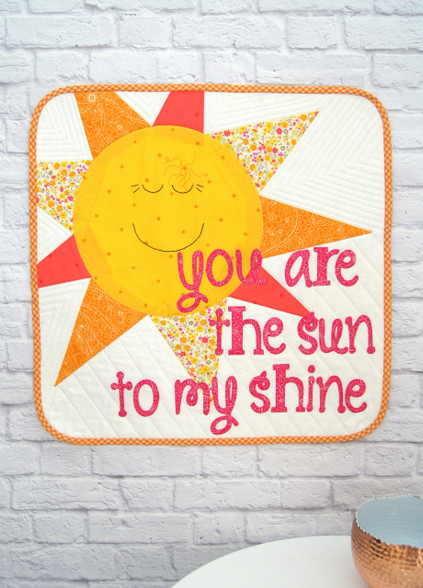 Sunshine Mini Quilt - brighten someone's day with this fun Mini Quilt