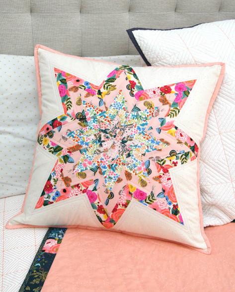 Twisted Lone Star Cushion - A modern Foundation Paper Pieced Cushion