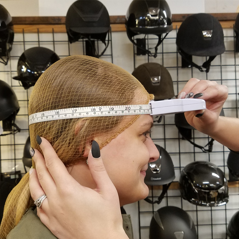 measuring head for a helmet