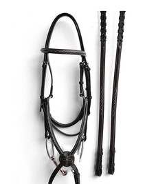 Bobby's Fancy Stitched Figure 8 Bridle with Reins