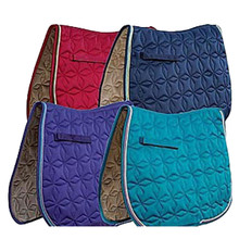 Roma Ecole Quilted Star Pattern Saddle Pad