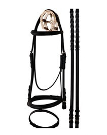 Bobby's Dressage Snaffle Bridle with Flash