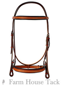 "Edgewood 3/4"" Fancy Padded Bridle"