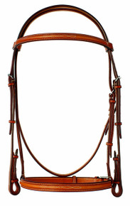 "Edgewood 3/4"" Fancy Stitched Raised Bridle"