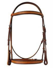 "Edgewood 5/8"" Plain Raised Padded Bridle"