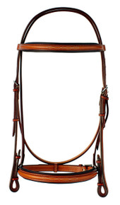 "Edgewood 5/8"" Fancy Raised Padded Bridle"