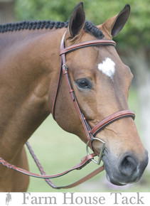 Fancy Wide Noseband Show Bridle w Raised Fancy Stitched Laced Reins