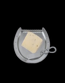 Arthur Court Equestrian Plate with Server-Horseshoe