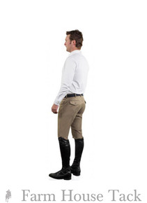 Ovation Men's Euroweave DX Front Zip 4-Pocket Full Seat Breeches