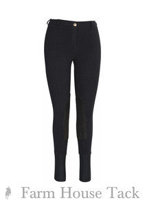 Tuffrider Ladies Starter Lowrise Pull On Knee Patch Breeches