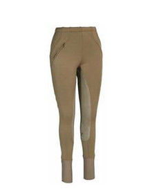 Tuffrider Ladies Unifleece Pull On Full Seat Breeches