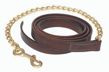 "Walsh Leather Lead with 24"" Chain"