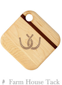 SVM Square Cheese Board - Horseshoes