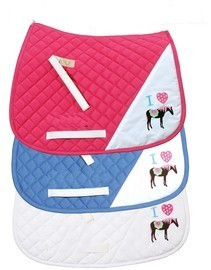 Tuffrider I Heart Pony Girl Saddle Pad