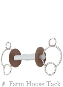 Beris 3 Ring Butterfly Snaffle Bit