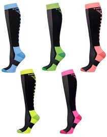 TuffRider Ventilated Neon Socks
