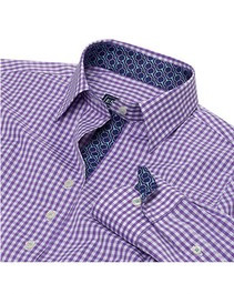 Essex Dora Casual Shirt- Plum Bits