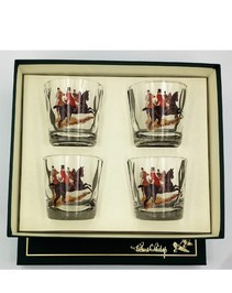 Equestrian Glassware - Richard C. Bishop Hunt Scene Glass Set