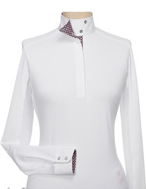 Essex Fiore Wrap Collar Long Sleeve Talent Yarn Shirt