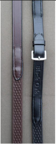 KL Select Black Oak Pebble Grip Reins