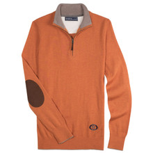 "Essex Orange ""Trey"" Quarter‑Zip Sweater"