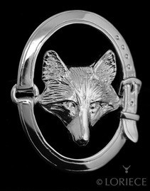Loriece Brooch Pin Fox Mask