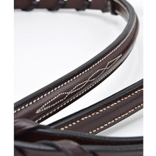 KL Select RB Round Raised White Stitched Laced Reins