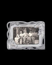"Arthur Court Equestrian Picture Frame-4""x 6"""