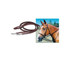 Tory Leather Flat Draw Reins