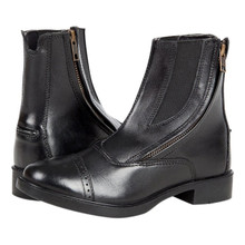 Daisy Clipper Side Zipper Leather Child Paddock Boots
