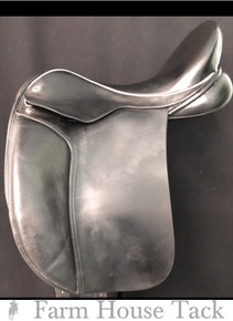 """Black Country Eloquence/Dressage 18"""" Used Dressage Saddle"""
