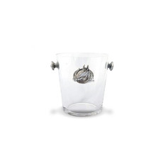 Arthur Court Equestrian Horse Head and Horseshoe Glass Ice Bucket
