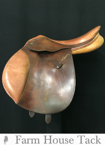 "Pessoa A/O 17.5"" Used Close Contact Saddle"