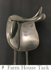 "Custom Wolfgang Solo 17.5"" Used Dressage Saddle"