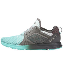 Turquoise Gray Ombre Mesh