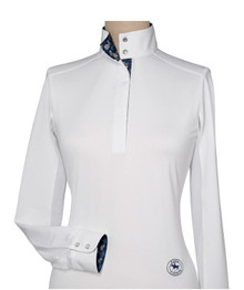 "Essex Talent Yarn ""Zebras"" Ladies Straight Collar Show Shirt"