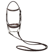 Huntley Equestrian Sedgwick Leather Fancy Stitched Bridle with Reins