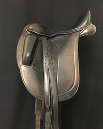 "Black Country Adelinda 17.5"" Used Dressage Saddle"