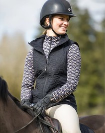 Black Vest Paired with Mini Horse IceFil LS Shirt