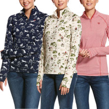 Ariat Women's Lowell 2.0 1/4 Zip Long Sleeve Baselayer Prints