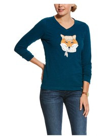 Ariat Women's Dapper Fox Long Sleeve Tee