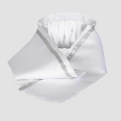 White with Silver Ribbon