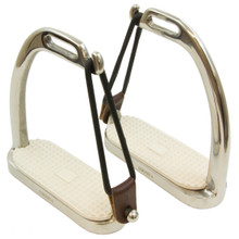 Intrepid Coronet Safety Stainless Steel Peacock Stirrup Irons w/Pads